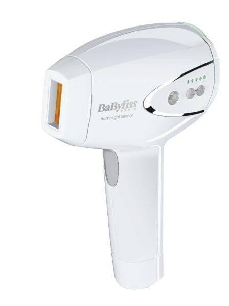 Na zdjęciu znajduje się Depilator laserowy BABYLISS G960E w kolorze białym.