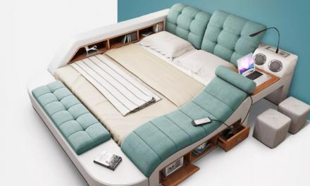 Oto łóżko dla króla home office'u!