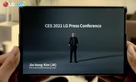Rozciągany telefon LG zaprezentowany na CES 2021