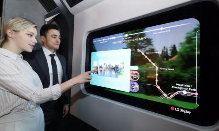 Przezroczysty ekran LG trafi do restauracji, transportu publicznego, a nawet łóżek