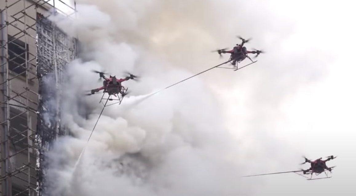 Google będzie testować drony do gaszenia pożarów