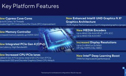 Intel twierdzi, że procesor Rocket Lake-S jest szybszy w PCMarku 10 niż Ryzen 9 5950X