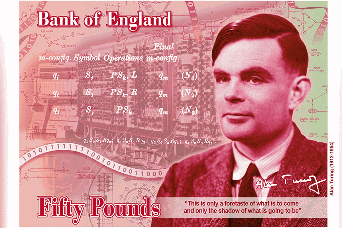 Alan Turing na banknocie - znajdziesz wszystkie ukryte zagadki? · Testoria