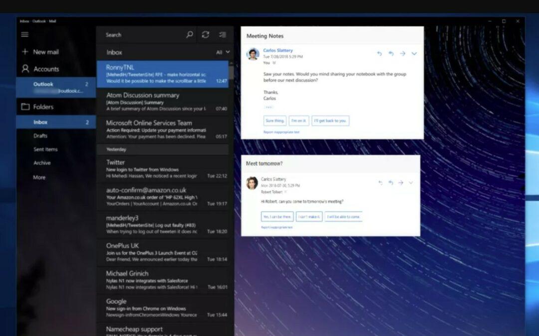 """Outlook otrzyma """"Sugerowane odpowiedzi"""" w Windows"""