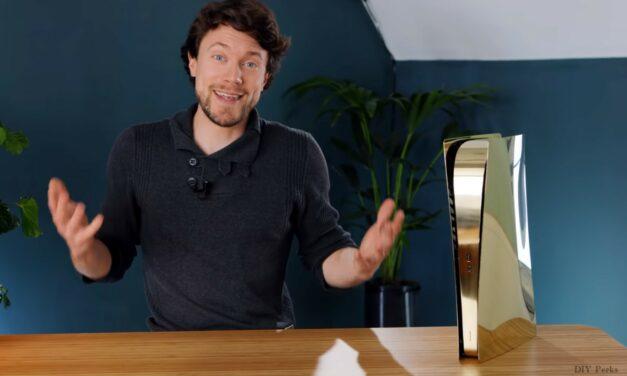 Youtuber stworzył obudowę do PS5 z mosiądzu. Wygląda świetnie!