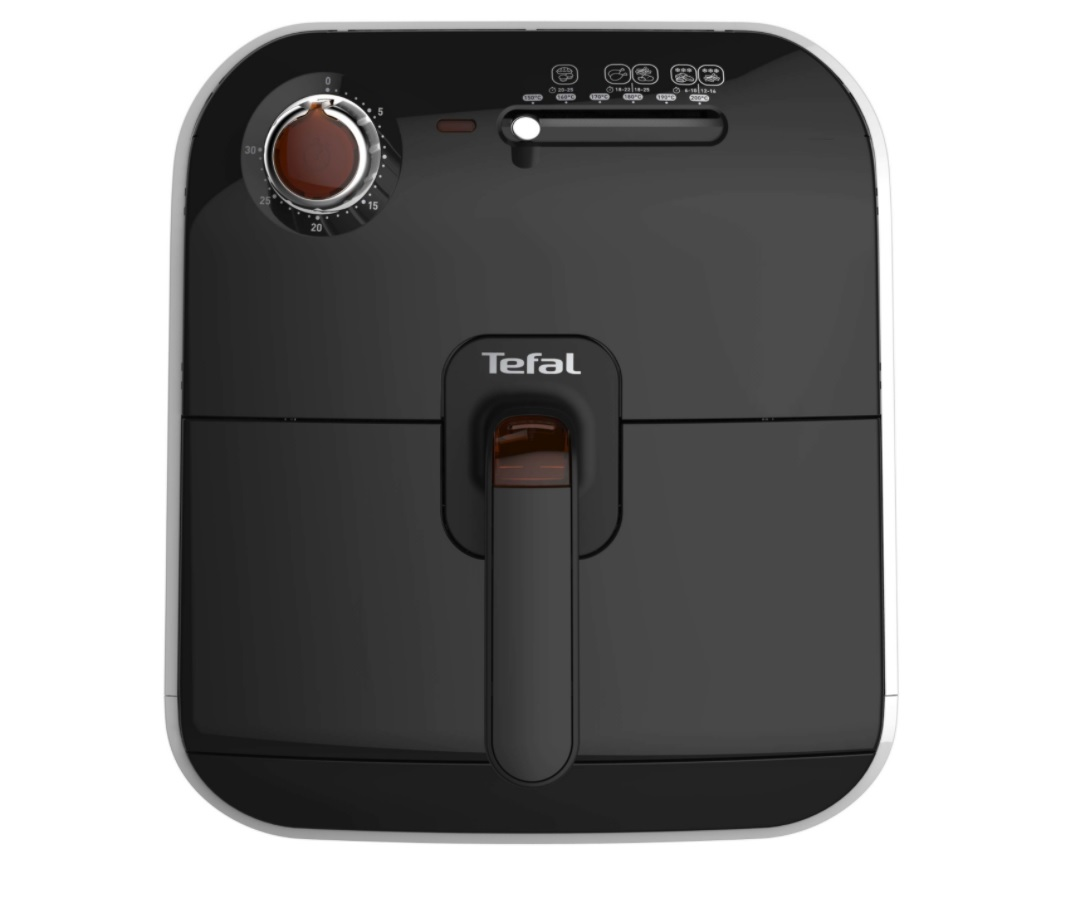 Na obrazku znajduje się frytkownica beztłuszczowa Tefal Frydelight FX1000 w kolorze czarnym.