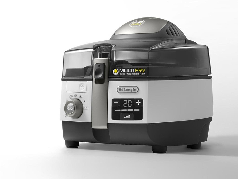 Na obrazku znajduje się frytkownica beztłuszczowa De'Longhi FH 1396 Extra Chef Plus.