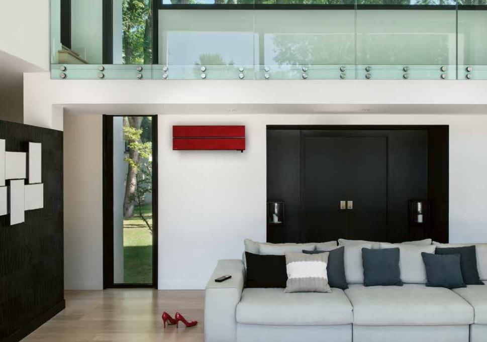 Na zdjęciu znajduje się Klimatyzator z serii M Diamond Mitsubishi - klimatyzacja do domu.