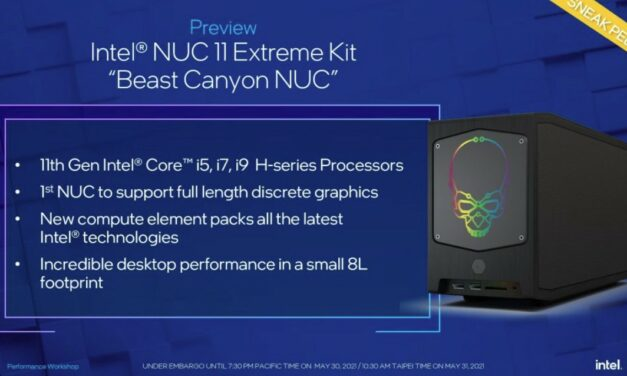 Intel Canyon NUC obsłuży pełnoprawne karty graficzne