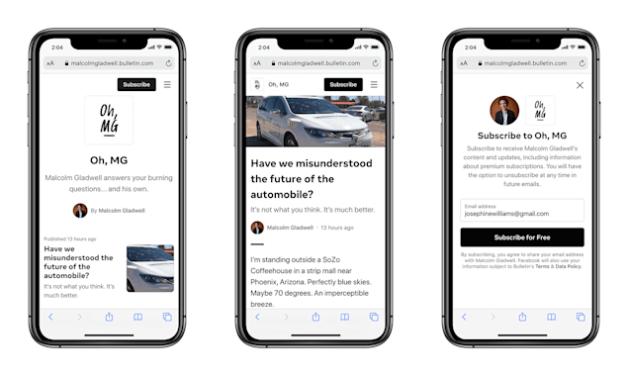 Facebook startuje z nową platformą dziennikarską – Bulletin