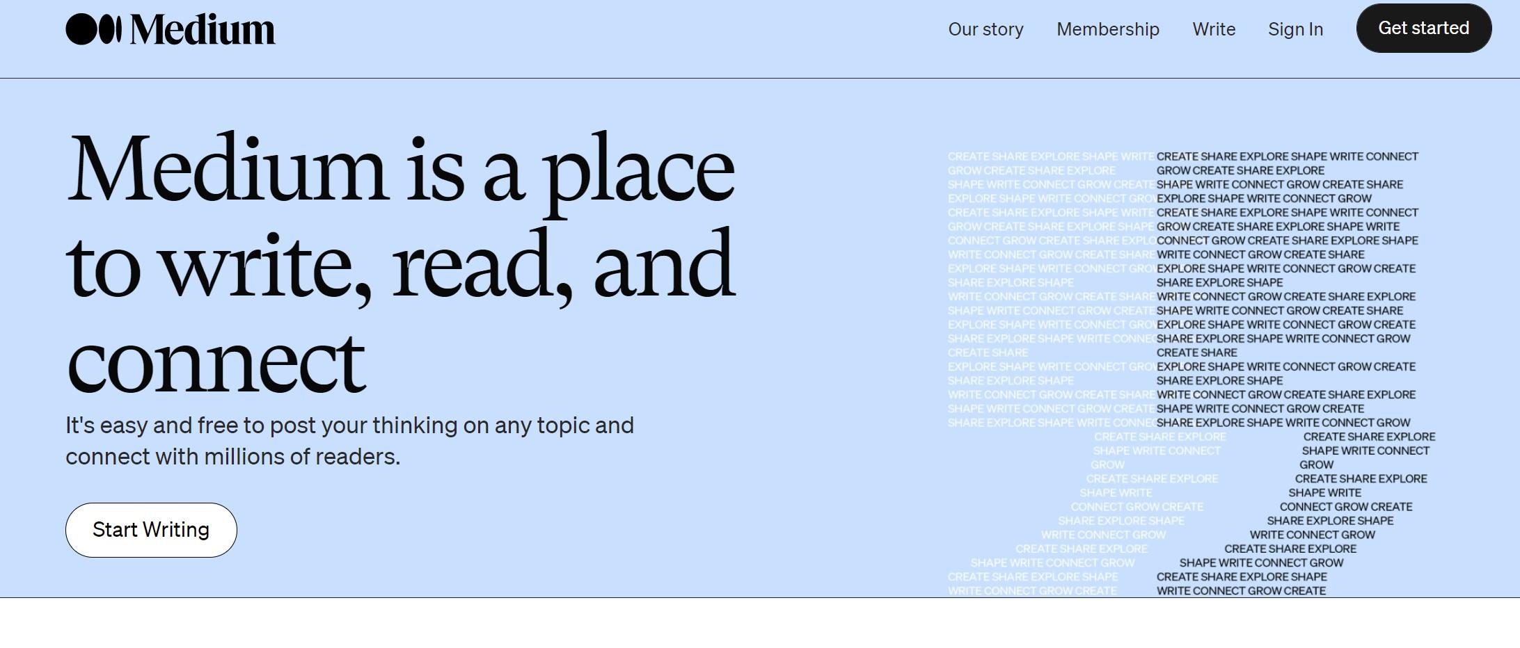 Medium - Gdzie założyć bloga