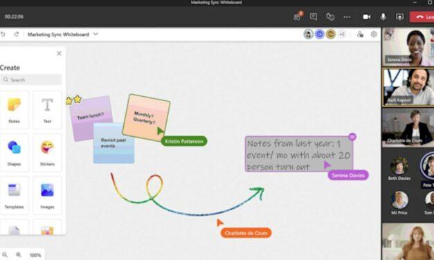 Odświeżony Microsoft Whiteboard zapewni świetne możliwości