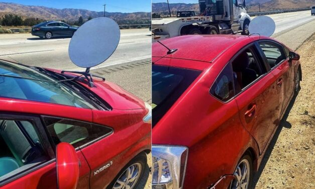Takie rzeczy tylko w USA: miał na samochodzie satelitę Starlink. Dostał mandat. Słusznie?