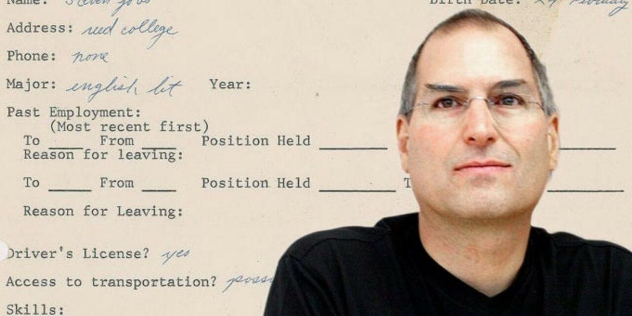 Podanie o pracę Steve'a Jobsa w formie NFT trafi na aukcję