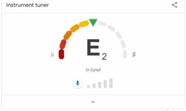 Google wprowadza stroik do gitary online do wyszukiwarki
