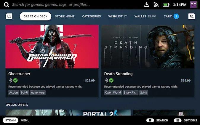 Valve poinformuje nas czy dana gra zadziała na Steam Deck